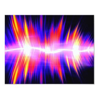 Forma de onda audio abstrata de Mullticolored Convite 10.79 X 13.97cm