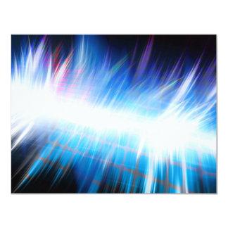 Forma de onda audio de incandescência convite 10.79 x 13.97cm