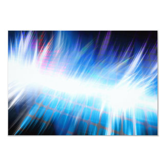 Forma de onda audio de incandescência convite 8.89 x 12.7cm