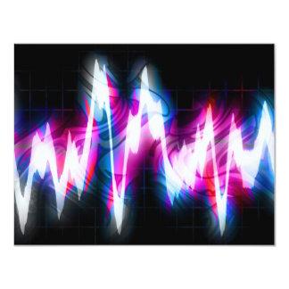 Forma de onda Funky do áudio do gráfico EQ Convite 10.79 X 13.97cm