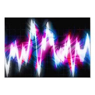 Forma de onda Funky do áudio do gráfico EQ Convite 8.89 X 12.7cm