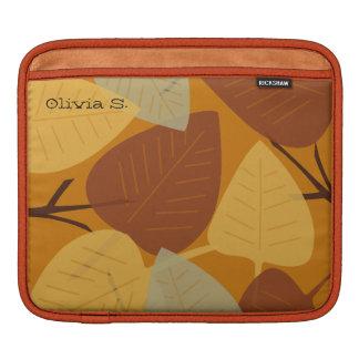 Forma dispersada moderna do ramo do outono da qued bolsa de iPad