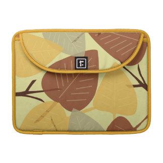 Forma dispersada moderna do ramo do outono da qued bolsas para MacBook
