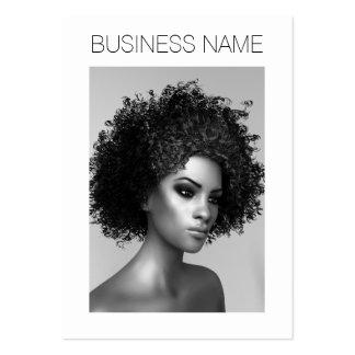 Forma do Afro Cartão De Visita Grande