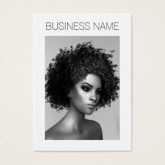 Forma do Afro Cartão De Visitas