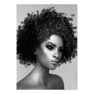 Forma do Afro elegante Cartão De Visita Grande