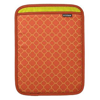 Forma do amarelo alaranjado do teste padrão do tre bolsas de iPad
