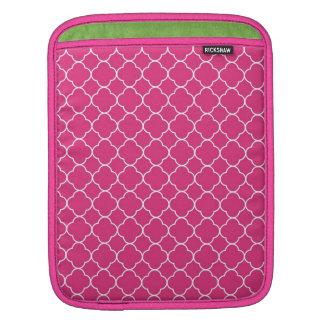 Forma do branco do rosa quente do teste padrão do  bolsas para iPad