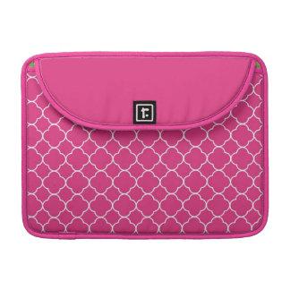 Forma do branco do rosa quente do teste padrão do  bolsa para MacBook pro