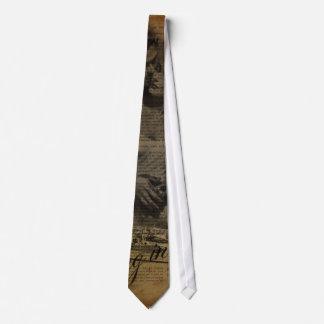 forma feminino de Paris do vintage elegante Gravata