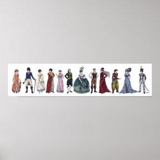 Forma histórica da regência - poster 20x4.5 longo pôster