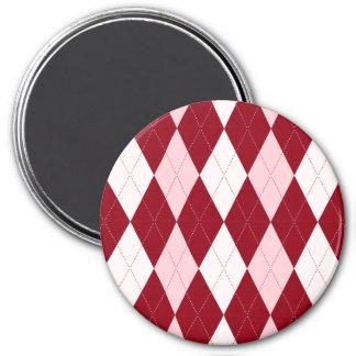Forma pequena cor-de-rosa carmesim vermelha do ímã redondo 7.62cm
