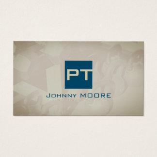 Forma pessoal das iniciais do logotipo do cartão de visitas