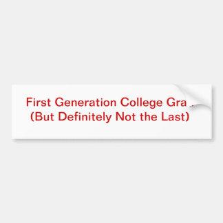 Formando da faculdade adesivo para carro