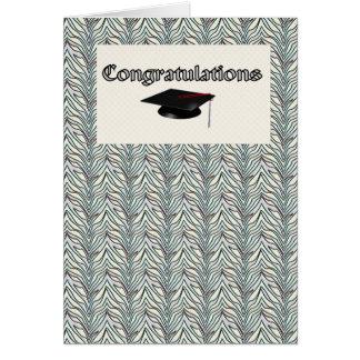 Formando das felicitações cartão comemorativo