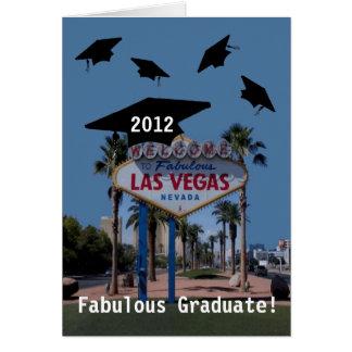 Formando fabuloso de Las Vegas! Cartão 2012