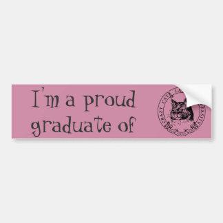 Formando orgulhoso da senhora louca Universidade Adesivo Para Carro