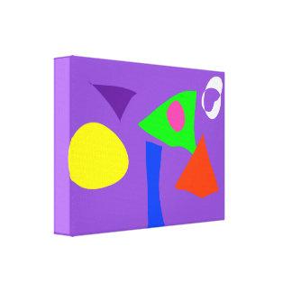 Formas Impressão De Canvas Envolvidas