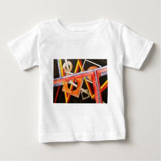 Formas de flutuação - arte abstracta geométrica camiseta