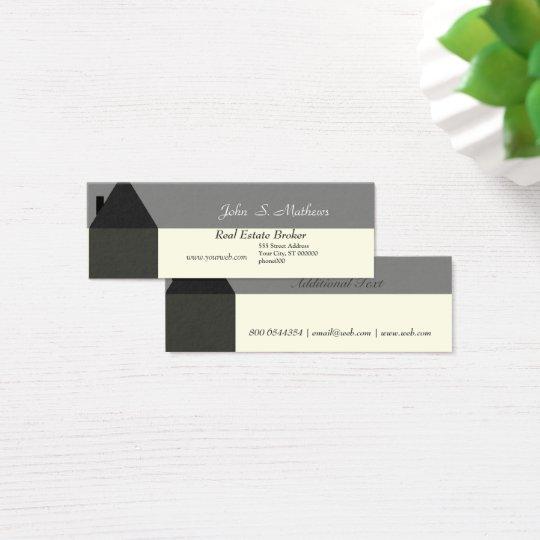 Fornecedor de serviços moderno da casa do corretor cartão de visitas mini