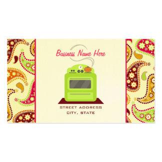 Fornecedor retro verde-claro do cozinheiro chefe cartão de visita