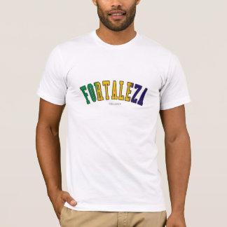 Fortaleza em cores da bandeira nacional de Brasil T-shirt