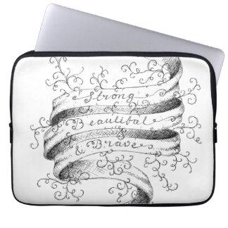 Forte, bonito & bravo capa de notebook