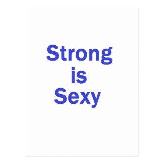 Forte é o azul sexy cartao postal