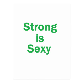 "Forte é o verde ""sexy"" cartoes postais"