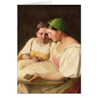 Fortuna-Dizer, 1842 Cartão