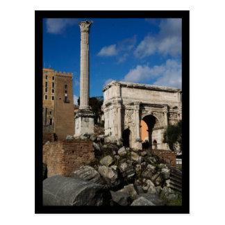 Fórum romano cartão postal