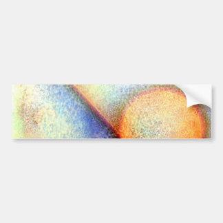 Fosco azul e abstrato da laranja adesivo para carro