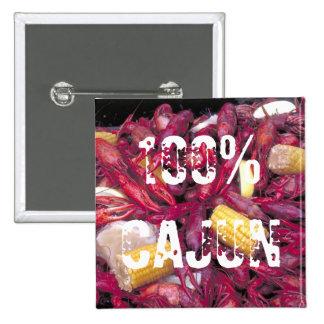 Foto 100% dos lagostins do botão de Cajun Botons