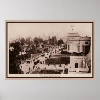Foto 1924 da exposição do Império Britânico do vin Pôsteres