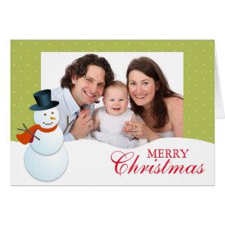 Foto amigável do Natal do verde do Pólo Norte do b Cartão