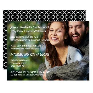 Foto - anúncio do casamento 3x5 convite 8.89 x 12.7cm
