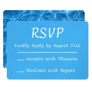 Foto azul RSVP da piscina do Aqua Convite 12.7 X 17.78cm