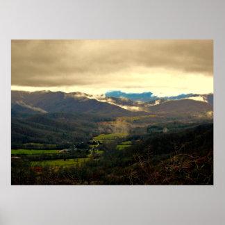 Foto bonita da paisagem de North Carolina Poster