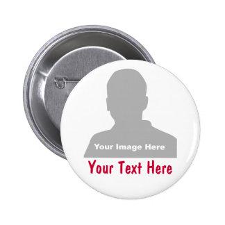 Foto & botão da mensagem bóton redondo 5.08cm