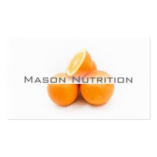 Foto branca do cartão de visita das laranjas