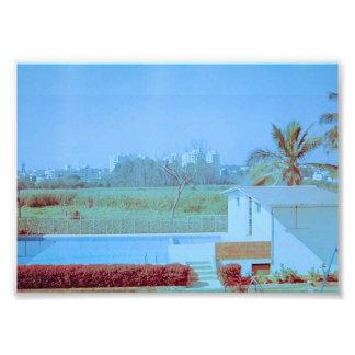 Foto Céu azul com campo verde