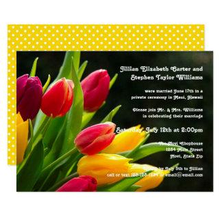 Foto colorida das tulipas - anúncio do casamento