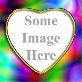 Foto colorida Scul da abstracção do quadro dourado Foto Escultura