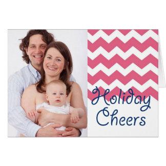 Foto cor-de-rosa do Natal dos elogios do feriado d Cartões