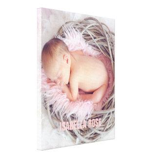 Foto cor-de-rosa do nome do bebê