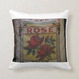 Foto cor-de-rosa do saco da farinha travesseiros