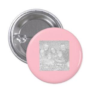 Foto cor-de-rosa quadrada da beira bóton redondo 2.54cm
