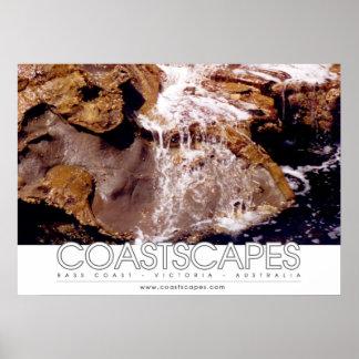Foto da cascata da rocha posteres