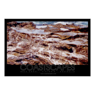 Foto da cascata da rocha pôsteres