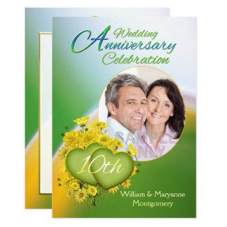 Foto da festa de aniversário do casamento do amor convite 12.7 x 17.78cm